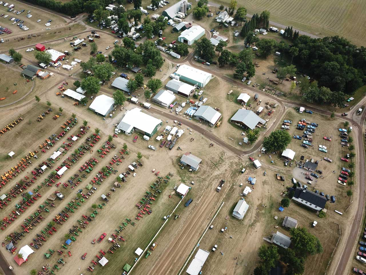 Aerial of the Show Grounds