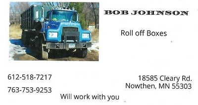 Bob Johnson Roll off Boxes