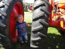 "Tristan Reiland Waldon Enjoying the ""big tractors"" 2011"