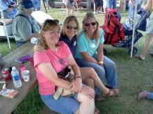 TRUDY, NANCY, AND JULIE, RELAX AT THE 2011 NOWTHEN THRESHING SHOW